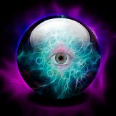 stock photo of sorcerer  - Crystal Ball - JPG