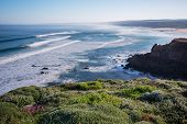 bordeira beach in South-West Alentejo and Costa Vicentina Natural Park, Portugal - early in the morn