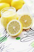 homemade lemon curd with fresh lemons - sweet food