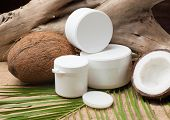 Coconut Oil With Dry And Fresh Coconut