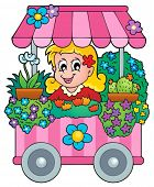 Flower shop theme image 1 - eps10 vector illustration.