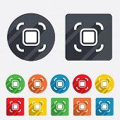 Autofocus zone sign icon. Photo camera settings.
