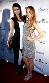 NEW YORK-FEB 10: Model Jordan Murray (R) and recording artist Lily Lane attend the Cantamessa Men Launch Party at Tao Downtown Lounge on February 10, 2014 in New York City.