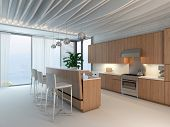 3d Kitchen / Dining Room Interior