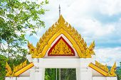 Architrave Of Asia Temple Thailand