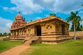 picture of trichy  - Great architecture of Hindu Temple dedicated to Shiva ancient Gangaikonda Cholapuram Temple India Tamil Nadu Thanjavur  - JPG
