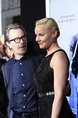 LOS ANGELES - FEB 10: Gary Oldman, Abbie Cornish at the premiere of Columbia Pictures' 'Robocop' at