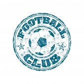 Football club grunge rubber stamp