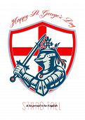Proud To Be English Happy St George Day Shield Card