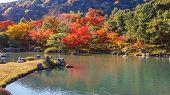 Tenryuji Sogenchi Pond Garden in Kyoto