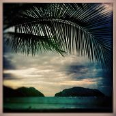 stock photo of instagram  - sunset in playa herradura costa rica in the instagram style - JPG