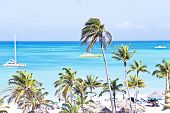 Sailing in the blue caribbic sea