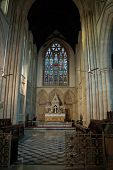 stock photo of british bombay  - The altar and aisle of the church of St John the Evangelist - JPG