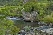 River and rocks in Giants Castle KwaZulu-Natal nature reserve