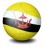 Illustration of a ball with the flag from the country of Brunei