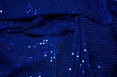 Blue Sequined Dress Fabric Background