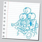 Businessmen teamwork in office