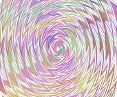 Twisted Texture-pastel Colours-on White