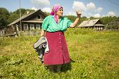 SOGINITSY, RUSSIA - JULY 25, 2014: Unidentified participants during folk festival Ivan-Tea (lat. Chamaenerion) from ecovillage Grishino.
