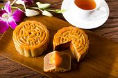 foto of mid autumn  - Chinese moon cake  - JPG