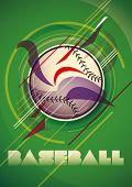 Abstract baseball poster. Vector illustration.