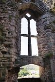 CHEPSTOW CASTEL, WALES, UK - 26 JULY 2014: Chepstow castle  ruins, Foundation, 1067-1188. Situated o