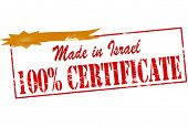 Made In Israel One Hundred Percent Certificate