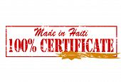 Made In Haiti One Hundred Percent Certificate