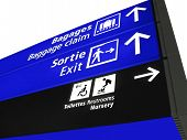 Airport Structure Sign, Baggage, Airline, Europe poster