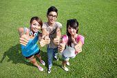 Happy Students In Campus
