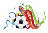 Soccer Ball With Brush Strokes