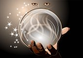 stock photo of witch ball  - clairvoyant - JPG