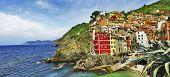 scenic Liguria - Riomaggiore panorama. Italy
