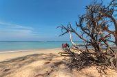 Paradisiac beach of Nai Yang Koh Phuket in Thailand