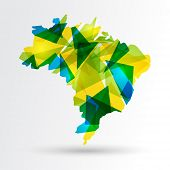 Abstract Brazil Map