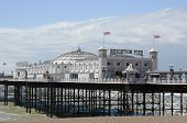 stock photo of shingles  - Brighton Pier and shingle beach - JPG