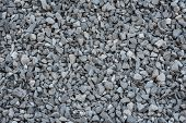 image of granite  - close up grey granite gravel background for mix concrete in construction industrial - JPG