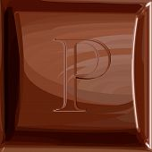 One letter of chocolate alphabet