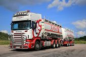 Scania R560 Tank Truck On A Parking Lot