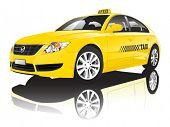 Police 3D car Vector