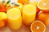 Freshly squeezed orange juice, close-up