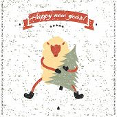 image of applique  - New Year and Christmas print - JPG