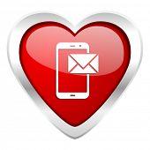 mail valentine icon post sign