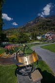 Zodiacal Sundial At Park In Vitznau