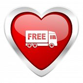 stock photo of free-trade  - free delivery valentine icon transport sign  - JPG