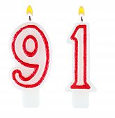Birthday Candles Number Ninety One
