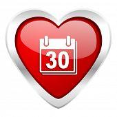 calendar valentine icon organizer sign