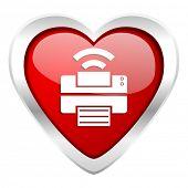 printer valentine icon wireless print sign