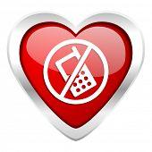 no phone valentine icon no calls sign