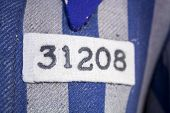 Number And Symbol On Nazi Concentration Camp Clothes